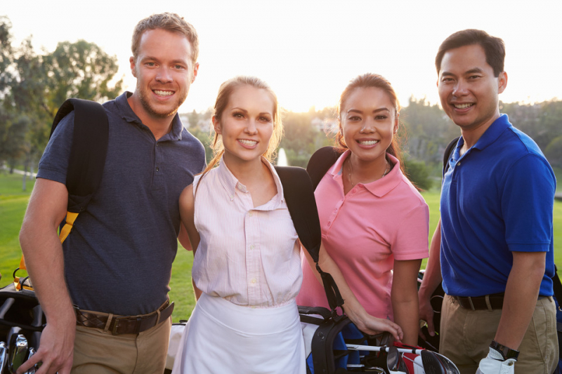Stock Photo of Golfers