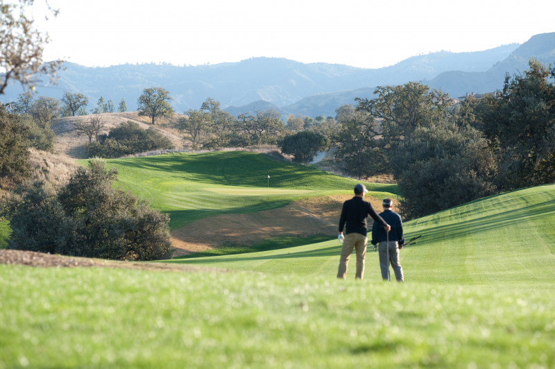 The Oaks Club at Valencia Members playing golf